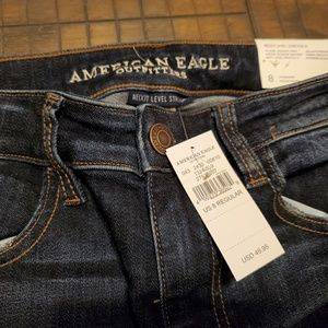American Eagle high rise jeggings Crop size 8